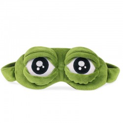 3D Sad Frog Travel Relax Eye Sleeping Mask