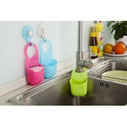 Kitchen Bathroom Folding Silicone Hanging Storage Holder Rack