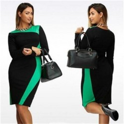 Plus Size Slim Elegant Dress