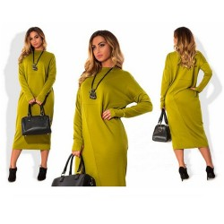Plus Size Long Vintage Loose Tunic Dress