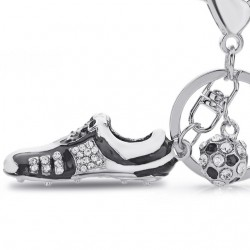 Crystal Football Soccer Shoes Rhinestone Keychains For Car Purse Bag Buckle Pendant Keyrings Key Cha