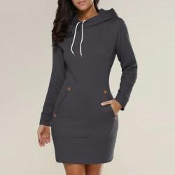Mini dress with hood - sweater