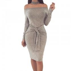 Elegant Off Shoulder Pencil Dress