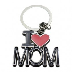 I Love Mom - I Love Dad keychain keyring