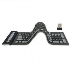 Flexible silicone - foldable - wireless - 107-keys keyboard - Russian - Qwerty