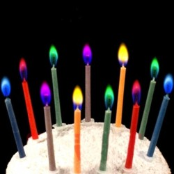 2017 Hot Sale 6Pcs Colored Birthday Cake Candles Safe Flames Party Festivals Home Decorations