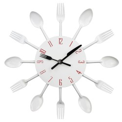 Cutlery Modern Kitchen Wall Clock