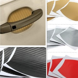 10 * 9cm Carbon Fiber Vinyl Car Protection Sticker 4pcs