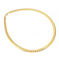 Flat Snake Stainless Steel Necklace