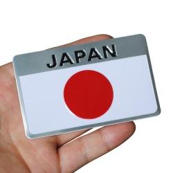 Metal Japanese Flag Emblem Badge Japan Car Sticker