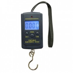 Multi Electronic Digital Scale Portable Hand Hanging Hook Pocket Scale BACKLIGHT Fishing Luggage-bla