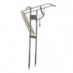Steel Automatic Double Spring Angle Fishing Rod Holder Bracket Anti-Rust Steel Fishing Bracket Pole