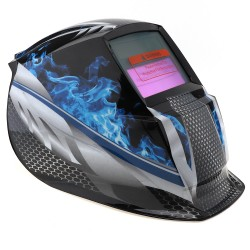 Blue Fire Solar Mask Auto-Darkening Welding Helmet