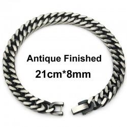 CHIMDOU Men Bracelet Silver Color Gold Color Black Stainless Steel Bracelet Bangle Male Accessor