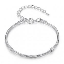 2017 Hot Silver Love Snake Chain Fit Original Bracelet Charm Bead Jewelry Gift For Men Women 16-21cm