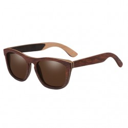 Wooden Design Polarized Mirror Lens Sunglasses Unisex