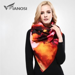 VIANOSI Winter Scarf Women Top Quality Printing Scarves Thicken Warm Shawls Wool Cashmere Brand S