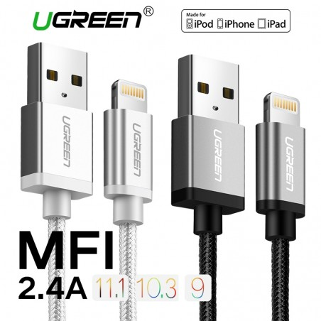Ugreen 24A MFi Lightning to USB Fast Charger Data Cable