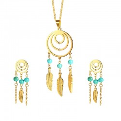 Dreamcatcher Necklace & Earrings Jewelry Set