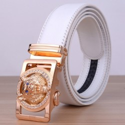 Wolf Genuine Leather Automatic Buckle Belt