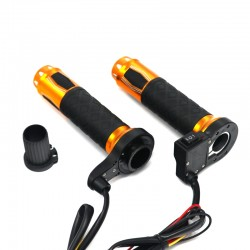 """22mm 7/8"""" Aluminum 12V Motorcycle Electric Heated Handlebar Grips"""