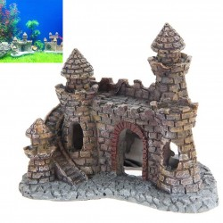 Fish Tank Aquarium Resin Castle Tower Ornament