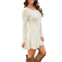 Causal Plus Size Short Knitted Sweater Dress