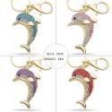 Crystal Dolphin Keychain Keyring