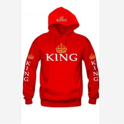 King & Queen Printed Hoodie Cotton