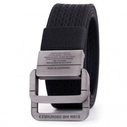 Double Buckle Men's Canvas Belt