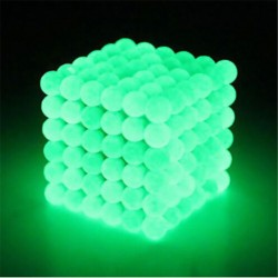 5mm Neodymium spheres magnetic balls 216 pcs Glow in the Dark