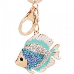 Crystal Fish Keychain Keyring