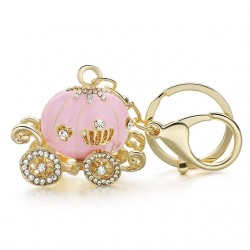 Crystal Pumpkin Carriage Keychain Keyring