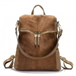 Vintage Leather Shoulder Bag Backpack