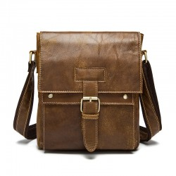 Genuine Leather Casual Crossbody Shoulder Bag