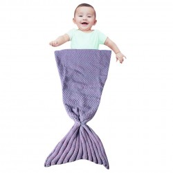 Handmade crochet mermaid tail kids baby blanket