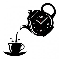 Kaffee Teetasse Form Wanduhr