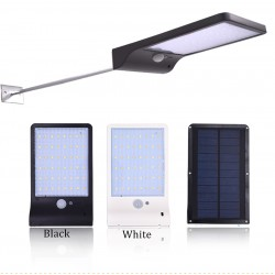 Outdoor Street Waterproof Wall Light 450lm 48 Led Solar Power PIR Motion Sensor