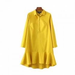 Casual Mini Ruffles Tunic Dress