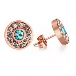 Elegant stud crystal earrings