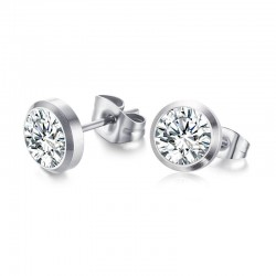 Classic Simple Stud Crystal Earrings