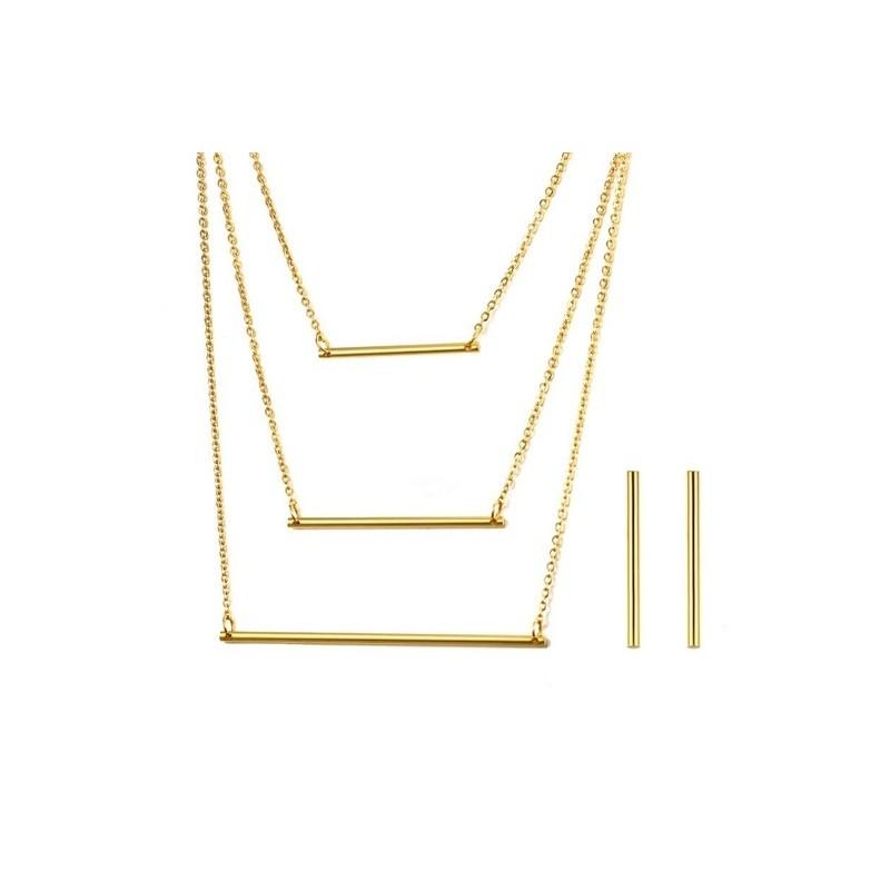 09f0b4e13ba49 3 Layer Necklace & Earrings Jewellery Set | Store Netherlands