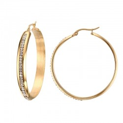 Big Hoop Gold Earrings