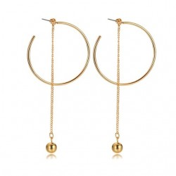 Ball & Hoops Long Earrings