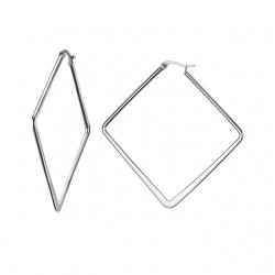 Silver Big Geometric Earrings