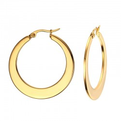 Gold Hoops Big Earrings