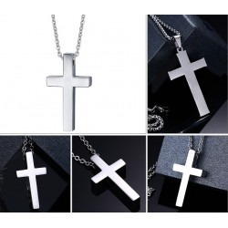 Classic Blank Cross Pendant Necklace