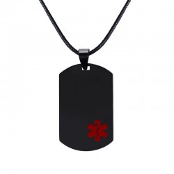Medical Sign Pendant Leather Necklace Unisex