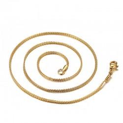 Gold & Silver Chain Plain Necklace Unisex