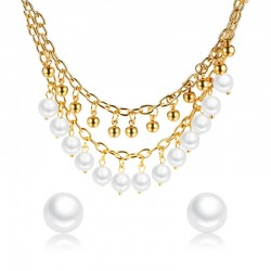 Pearls Choker & Earrings Jewellery Set